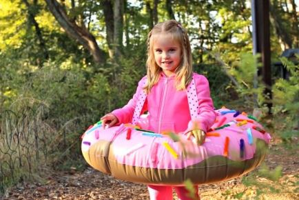 Weekday Crafternoon: Easy Kid's Doughnut Costume (http://blog.hgtv.com/design/2013/10/15/weekday-crafternoon-easy-kids-doughnut-costume/?soc=pinterest):