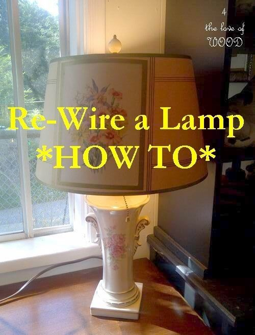 Safe Lamp Rewiring Tutorial How To Rewire A Lamp By Singram