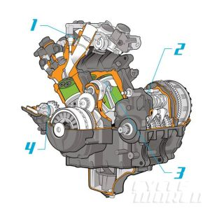 2014 Yamaha FZ09 CAD engine diagram | cutaways