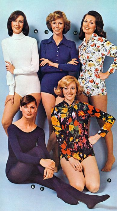 1970's pointed-collar bodysuits