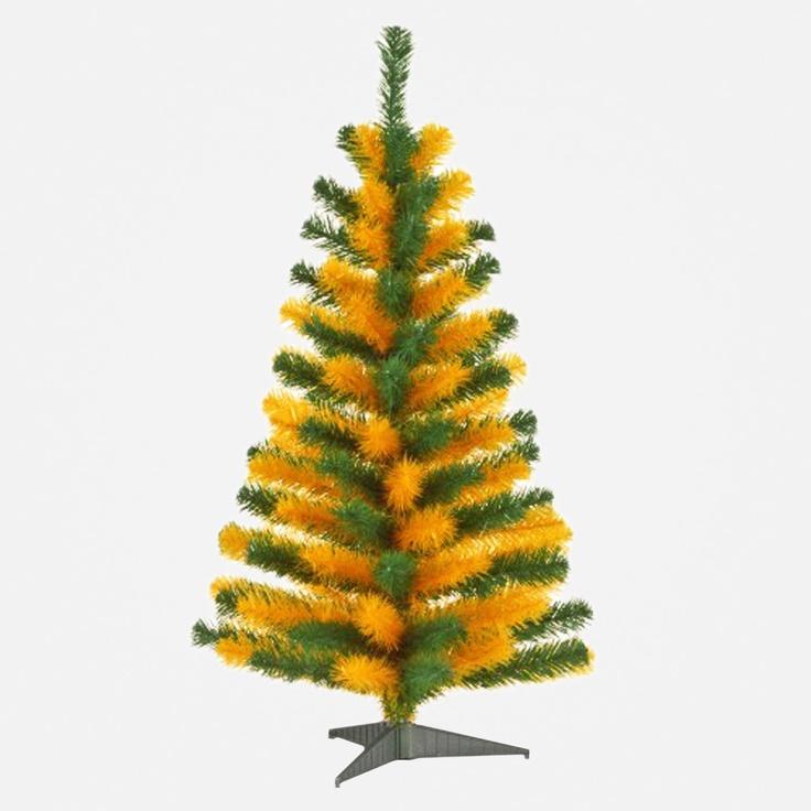 Baylor Tree Green Amp Gold 3 Tinsel Artificial Christmas