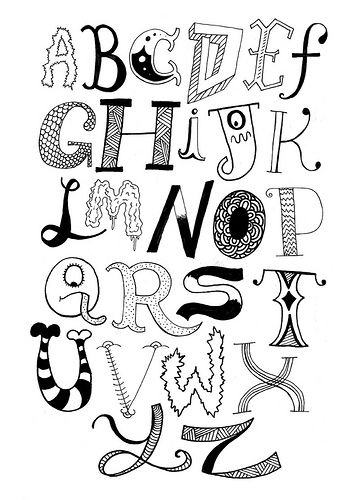 Lettering, Hand lettering and Types of lettering on Pinterest