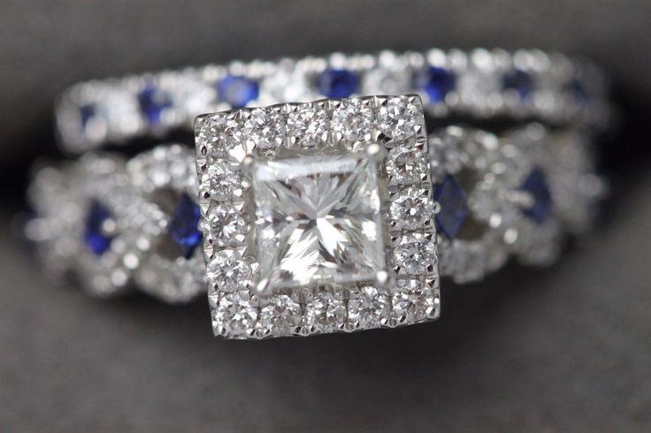 14k Vera Wang Love Collection Diamond Amp Blue Sapphire