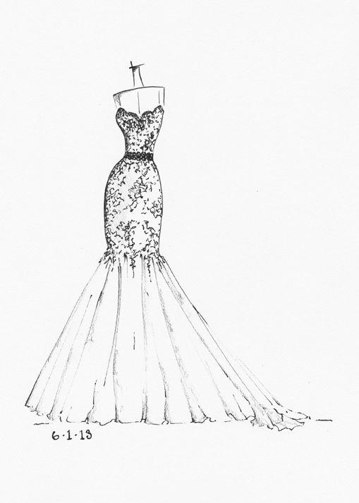 Best 25+ Wedding Dress Sketches ideas on Pinterest