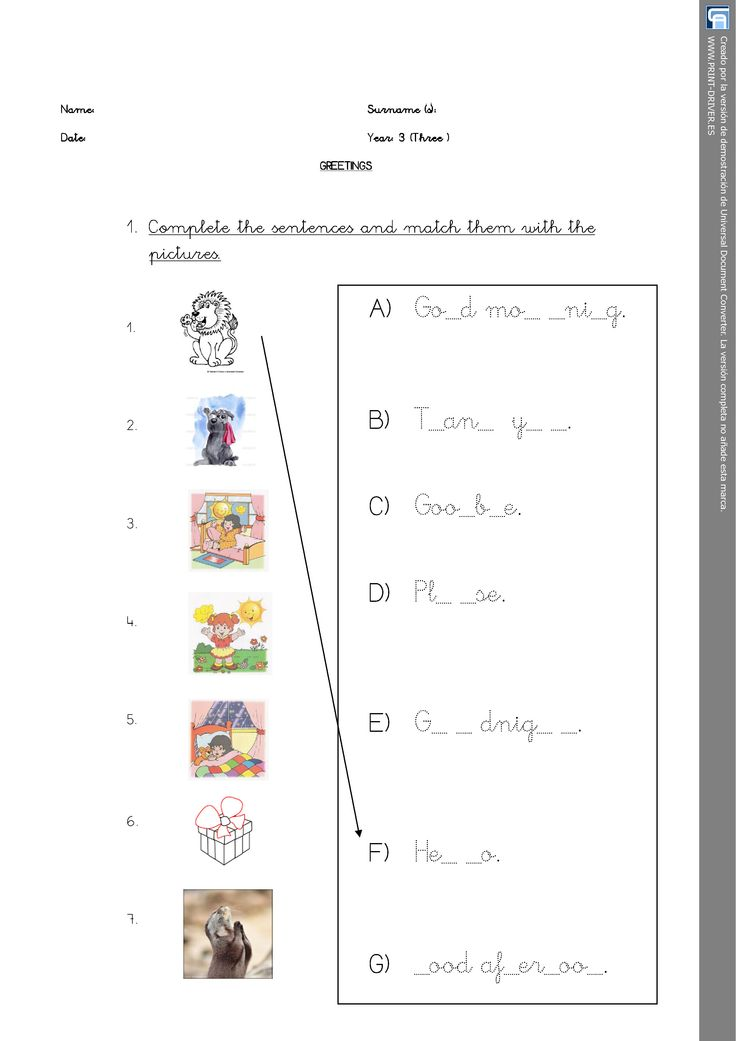 Matching Activity. Greetings worksheet. Personal Teaching