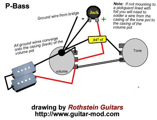 fender p bass wiring diagram: Wiring diagram for fender p bass powerking co