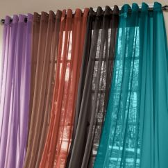 Teal Curtains For Living Room Ceiling Light Brylanehome® Studio Sheer Voile Grommet Panels | ...