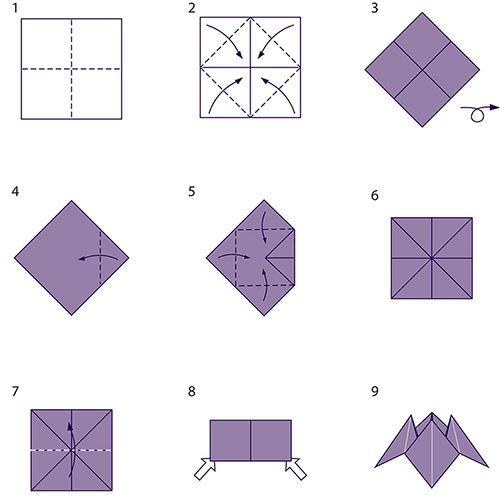 diagram origami bracelet pickleball court party   paper, toys and diy crafts