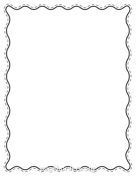 Printable black wavy border. Use the border in Microsoft