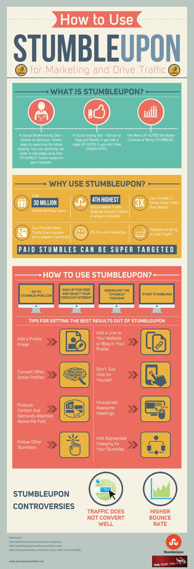 How to Use StumbleUpon to Drive Traffic and Marketing #infographic