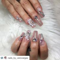 17 Best ideas about Bling Nails on Pinterest | Coffin nail ...