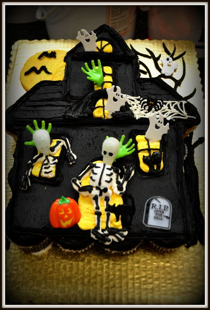 Haunted House Cupcakes Made