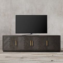 Images Of Modern Farmhouse Living Rooms Lighting For Pictures Herringbone 4-door Media Console … | Pinterest