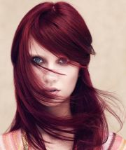 glorious plum red hair color