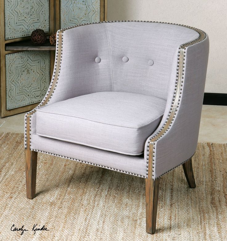 Gray Tufted Chair