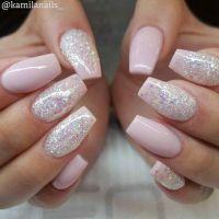 Best 25+ Pink glitter nails ideas on Pinterest