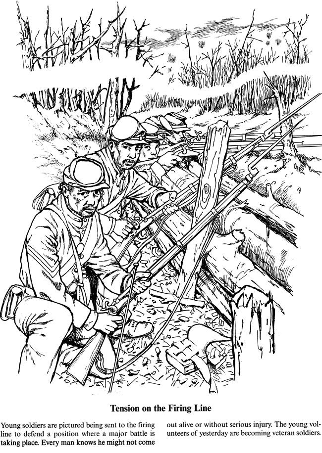 Civil War Soldier Coloring Page Sketch Coloring Page