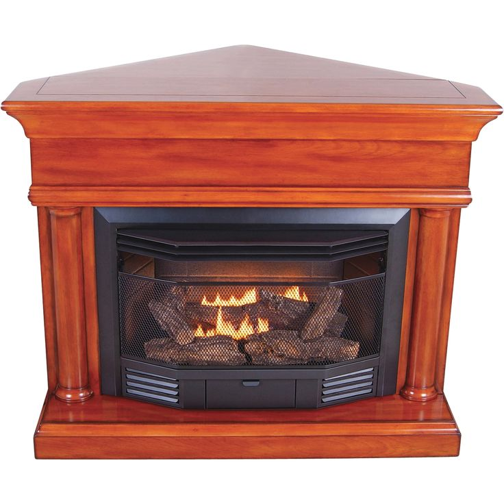 Propane Fireplace Heaters Procom Dual Fuel Vent-free Fireplace With Corner