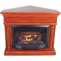 ProCom Dual Fuel Vent-Free Fireplace with Corner ...