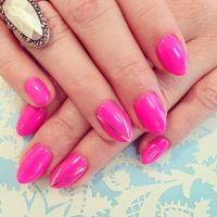neon pink nails! // stiletto nails | Nail Tips & Nail Art ...