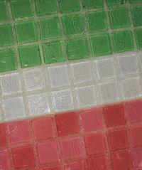 Crystal Glass Grout creates a chameleon effect with your ...