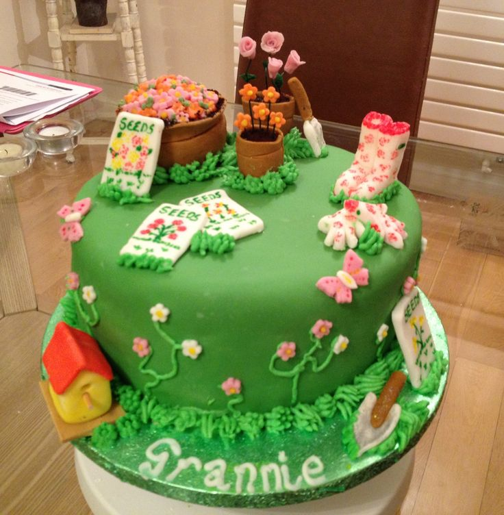 93 Best Images About Garden Themed Cakes On Pinterest Gardens