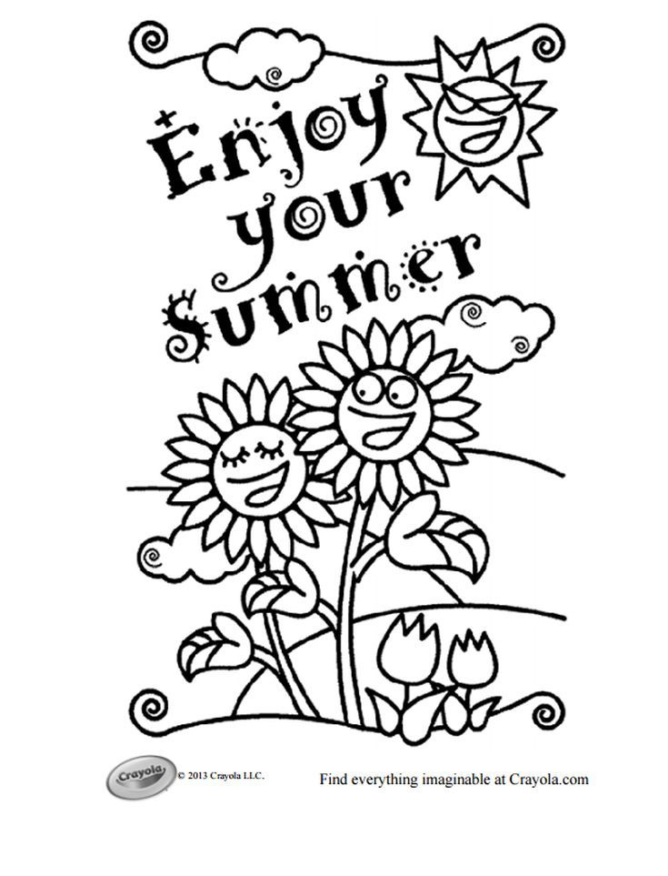 17 Best ideas about Summer Coloring Pages on Pinterest