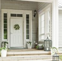 White door, white trim. I need to add a transom to my ...