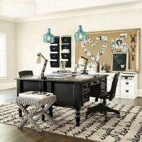 Home Office Ensemble 3 Drawer Desk with Hutch | Offices ...