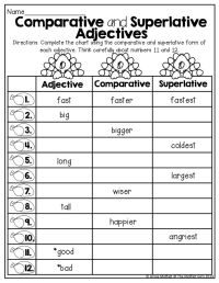 17 Best images about Therapy comparatives/superlatives on ...