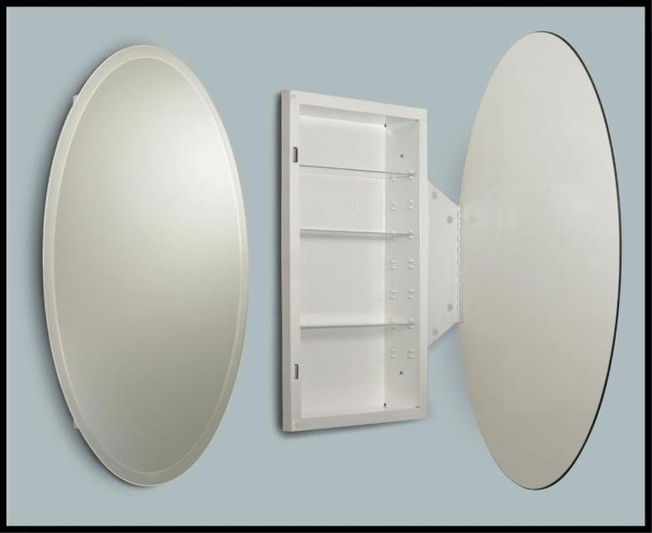 Beveled Oval  Medicine Cabinet  Medicine Cabinets