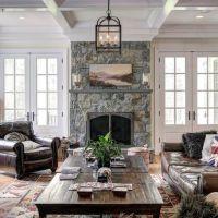 10+ best ideas about Fireplace Between Windows on ...