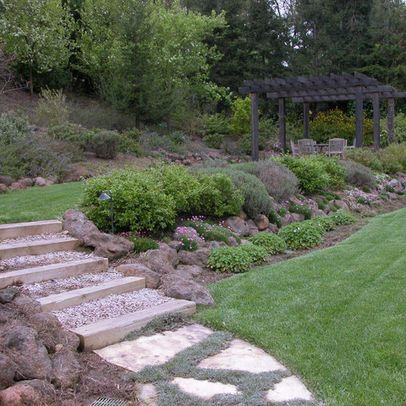 32 Best Images About Sloped Back Yard Ideas On Pinterest