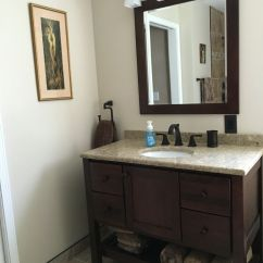 Kitchen Dining Room Sets 3 Piece Set Bertch Vanity In Brindle, Mirror , Cambria Quartz ...
