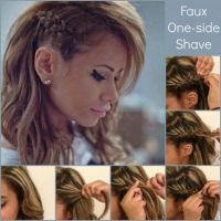 fake one side shave | How to fake a Faux side shave braid ...