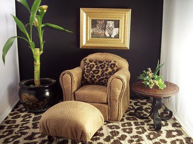 Leopard Print Decor Living Room  Barbie Doll House