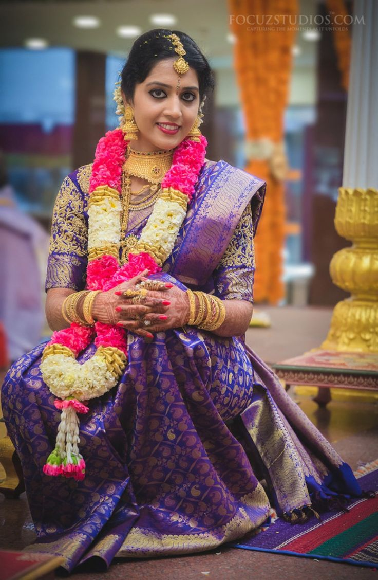489 best images about South Indian brides on Pinterest  Traditional Jasmine and Hindus