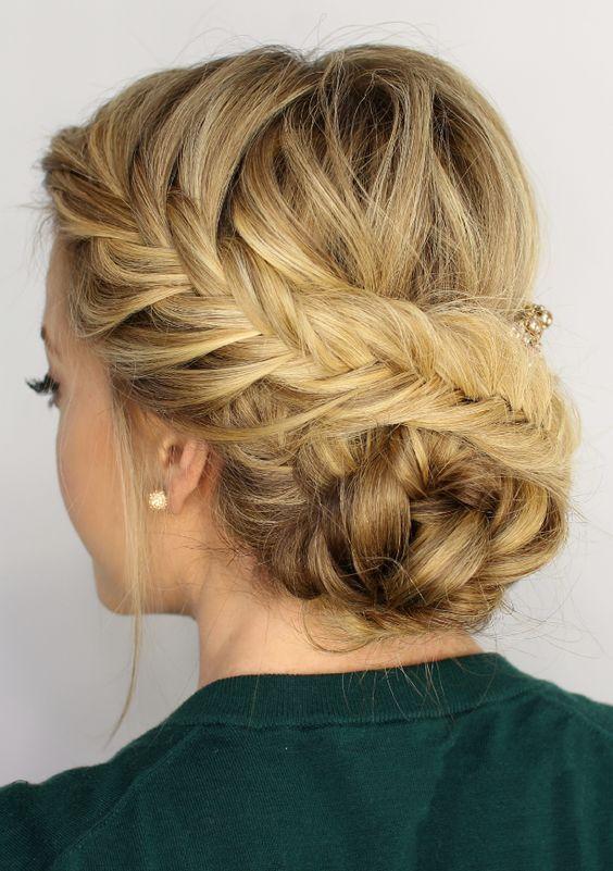 25 Best Ideas About Fishtail Updo On Pinterest Hair Braiding