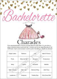 Bachelorette Party Charades - Bachelorette Charades ...