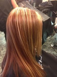 Red copper blonde highlights fall hair | Color 3 ...