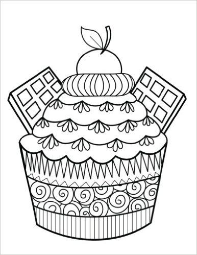 78 best Cupcakes + Cakes Coloring Pages for Adults images