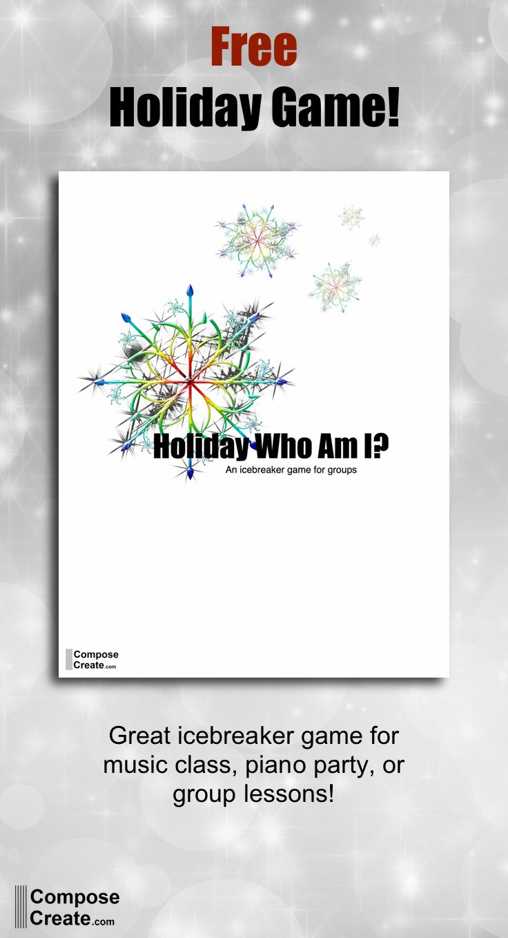 Free Holiday Icebreaker Group Game For Your Piano Group Lessons Music Class And More