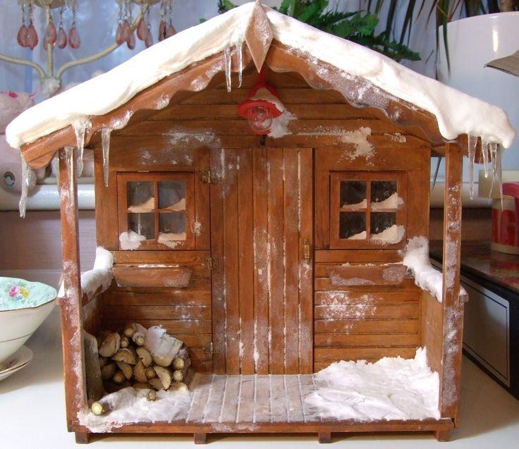 Walk Doll House Made Cardboard