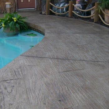 78 Best ideas about Wood Stamped Concrete on Pinterest