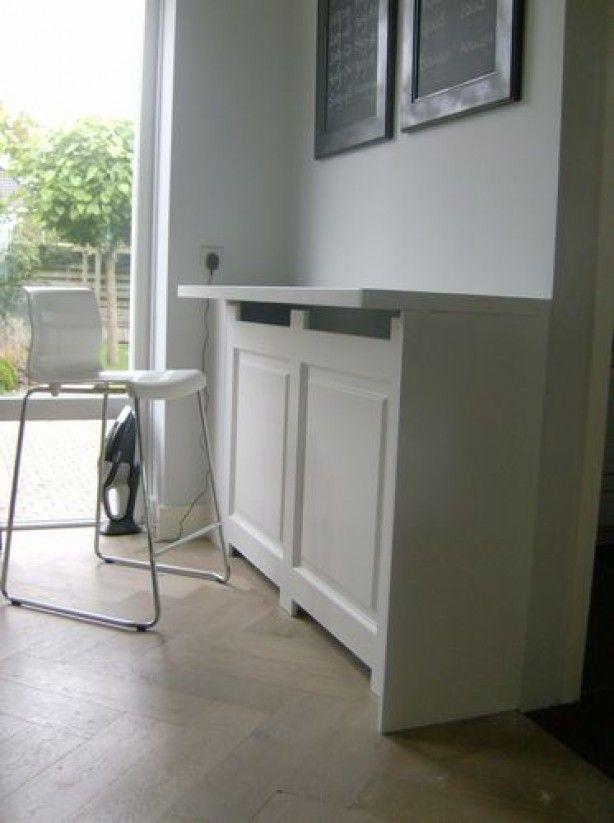 radiator ombouw als tafel  radiatorombouw  Pinterest