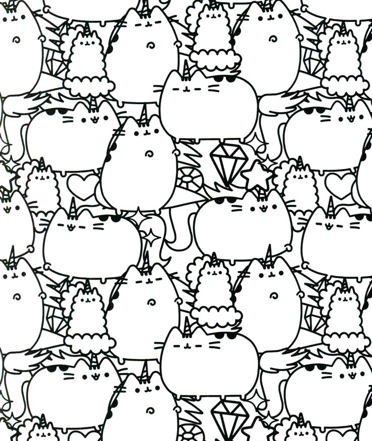 Original Project Pusheen Coloring Contest Open By