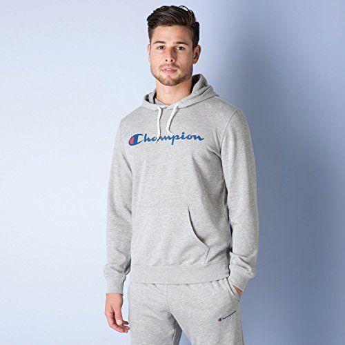sweat a capuche logo pour hommes sweat a capuche champion logo pour hommes en gris