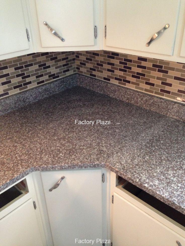 bainbrook brown granite countertops in kitchen  bainbrook