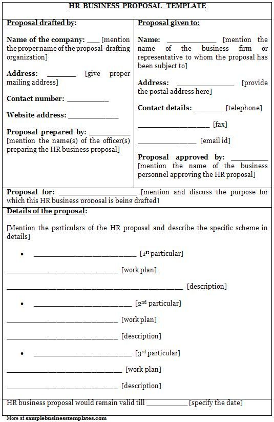 business proposal ideas examples