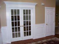 door casing - fluted w/rosette blocks & tall base trim ...